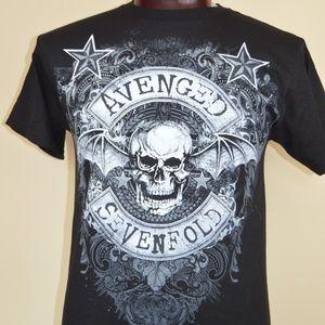 Avenged Sevenfold 2014 Mens M Black Graphic Tee